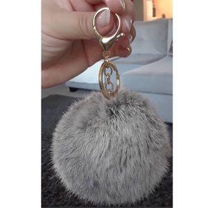 Accessories - Grey Pom Pom keychain